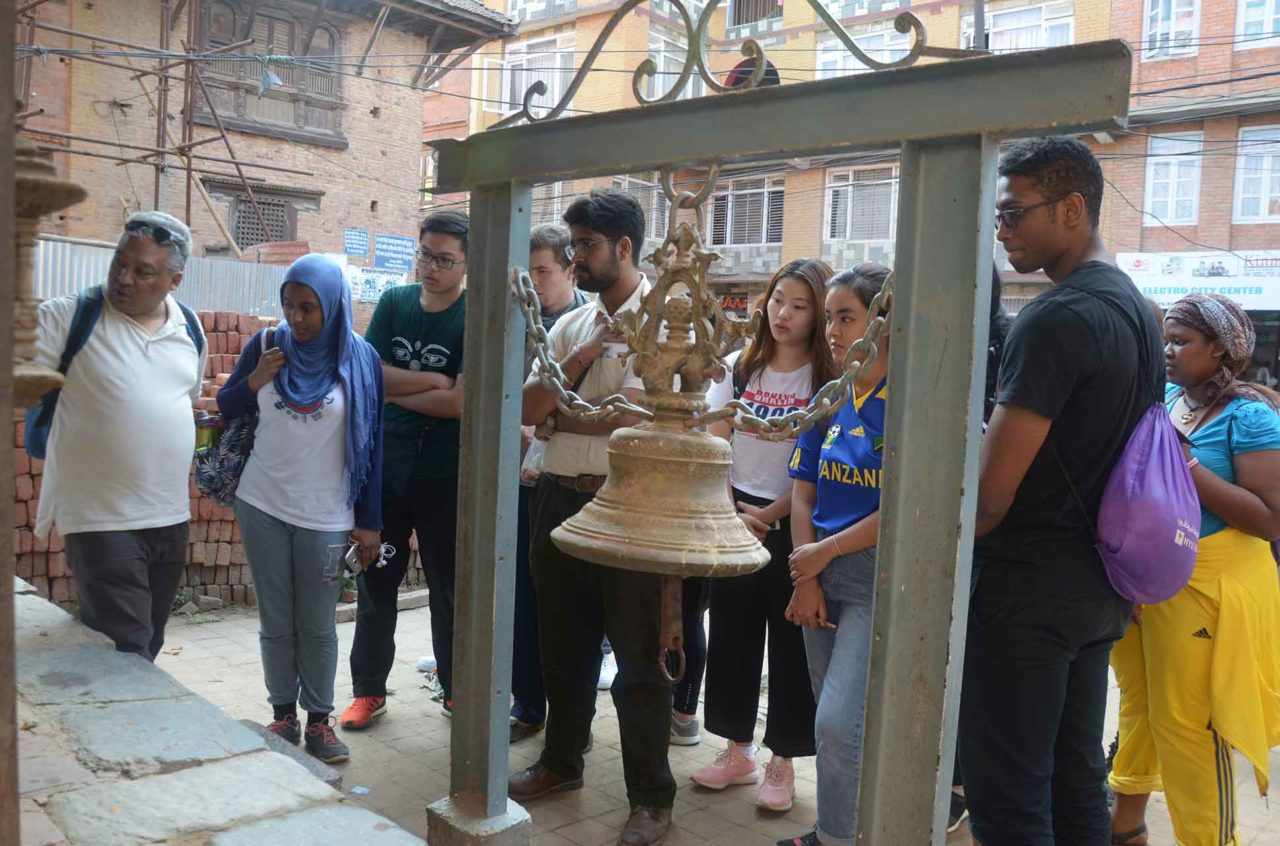 Students from the Reading the Earth course visiting Nepal.
