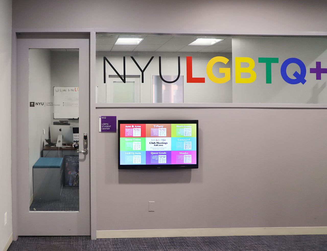 The LGBTQ+ Center's office facade.