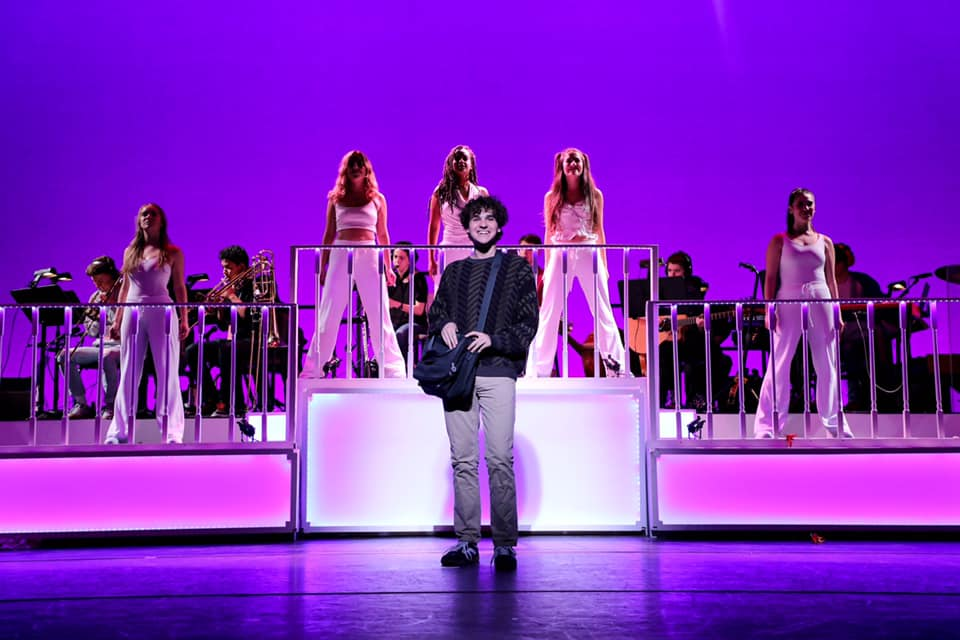 "Student actors in ""Legally Blonde"" the musical."