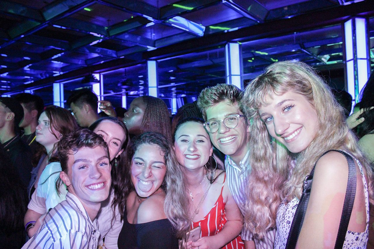 Students at the Ball during Welcome Week.